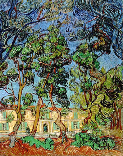 vincent van gogh k nstler gem lde kunstdruck 39 b ume im garten vom st paul 39 s hospital 39. Black Bedroom Furniture Sets. Home Design Ideas