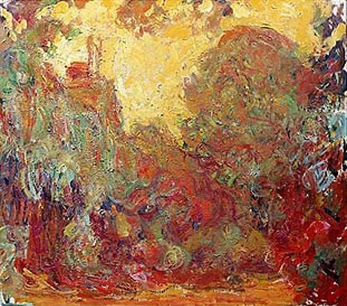 Claude Monet - Das Haus in Giverny, Komposition in rot