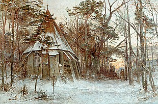 Paul Koken - Kirche in Winterlandschaft