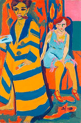Resultado de imagem para Ernst Ludwig Kirchner Selbstbildnis mit Modell